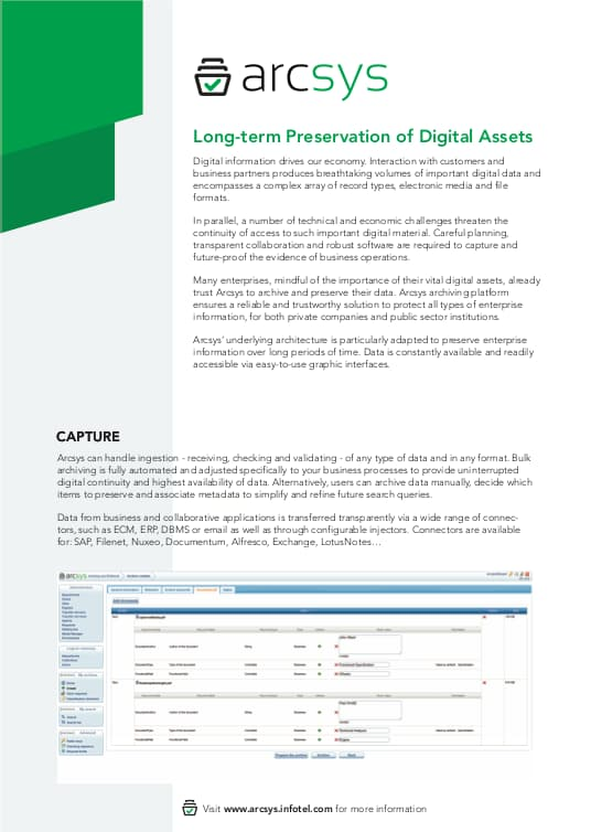 Long-term Preservation of Digital Asstes